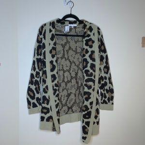NWT Say What Cheetah Leopard Cardigan